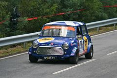 Mini Cooper S racing at Rampa da Falperra 2012 Stock Photos