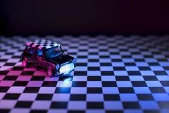 Mini cooper toy car studio shot. Royalty Free Stock Photo