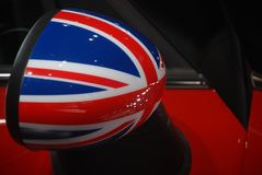 Mini cooper wing mirror Royalty Free Stock Photography