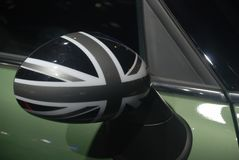 Mini cooper wing mirror Royalty Free Stock Image