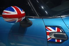 Mini cooper wing mirror Stock Image