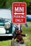 Mini Coopers Parken lizenzfreie stockbilder