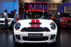 Mini Coper D bil på expo för Thailand Internationalmotor Royaltyfri Fotografi