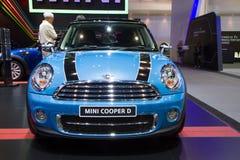 Mini Coper D bil på expo för Thailand Internationalmotor Arkivbild