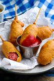 Mini corn dog.style rustic. Stock Photography
