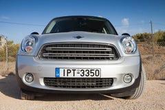 Mini Countryman crossover, closeup front view Royalty Free Stock Photos