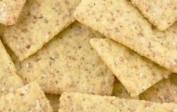 Mini cracker del frumento di vista vicina fotografia stock libera da diritti