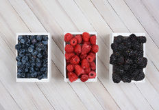 Mini Crates of Berries Stock Images