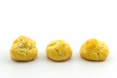 Mini Cream Puffs fresco doce, Profiterole, Choux, Eclair foto de stock royalty free