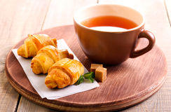 Mini crescents rolls Royalty Free Stock Images