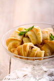 Mini crescents rolls in a vase Stock Images