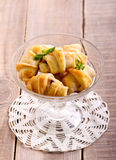 Mini crescents rolls in a vase Royalty Free Stock Photos