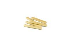 Mini crispy straw isolated on white background. Bunch of mini crispy straw isolated on white background Stock Photography