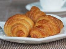 Mini Croissant hecho en casa fresco Fotografía de archivo