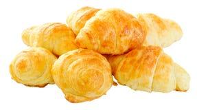Mini croissants a casa fatti di recente cotti Fotografie Stock