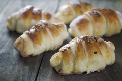 Mini croissants filled with cheese Royalty Free Stock Image
