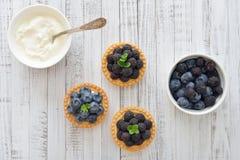 Mini crostata con le bacche fresche Immagine Stock
