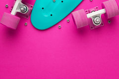 Mini cruiser board disassembled Stock Image