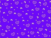 Mini cuore e nastro su fondo blu Fotografie Stock Libere da Diritti