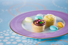 Mini cup cakes Stock Images
