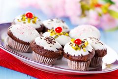 Mini cupcakes Royalty Free Stock Photography