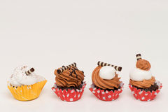 Mini cupcakes with assorted flavors Royalty Free Stock Image