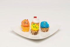 Mini cupcakes with assorted flavors Stock Photography