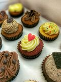 Mini cupcakes. With different flavours Stock Photos