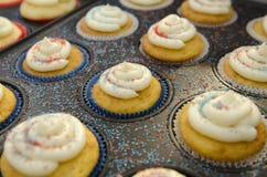 Mini Cupcakes patriótico Fotografia de Stock