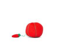 Mini cuscino rosso Fotografie Stock Libere da Diritti