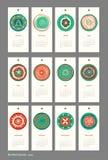 Mini Cute Calendar 2015 Seasons Royalty Free Stock Photography