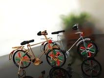 Mini- cykel som köps i delhi Indien arkivfoto