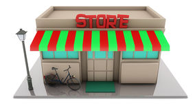 Mini 3d store Royalty Free Stock Photos