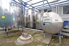 Mini Dairy Factory Stock Foto