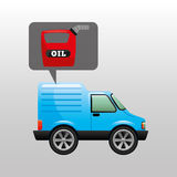 Mini de oliepictogram van de vrachtwagenbus Royalty-vrije Stock Afbeelding