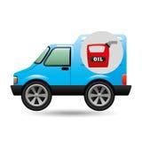 Mini de oliepictogram van de vrachtwagenbus Stock Fotografie