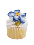 Mini Decorated Cupcake With Pansy Royalty Free Stock Photos
