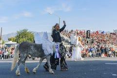 Mini demostración del caballo en Rose Parade famosa Fotografía de archivo