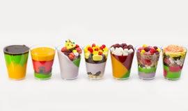 Mini dessert e canape della carne di verdure Fotografie Stock Libere da Diritti