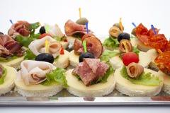 Mini desserts d'apéritifs Image libre de droits