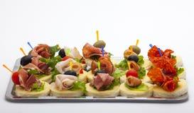 Mini desserts d'apéritifs Photos libres de droits