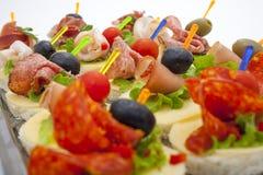 Mini desserts d'apéritifs Photographie stock