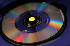 Mini Disc. And reflections Royalty Free Stock Photos