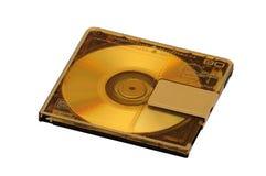 Mini Disc affinchè la registrazione ed ascoltare suonino su un fondo isolato fotografia stock libera da diritti