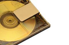 Mini Disc affinchè la registrazione ed ascoltare suonino su un fondo isolato immagine stock libera da diritti