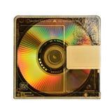 Mini Disc affinchè la registrazione ed ascoltare suonino sull'le sedere isolate immagine stock libera da diritti