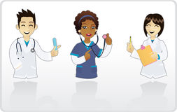 Mini Doctors. A radiant medical team 1 Royalty Free Stock Photography
