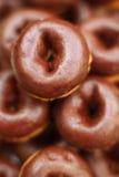 Mini donoughts del chocolate foto de archivo