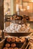 Mini Donuts On Display fresco fotos de stock royalty free