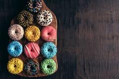 Mini Donuts esmaltado fotografía de archivo